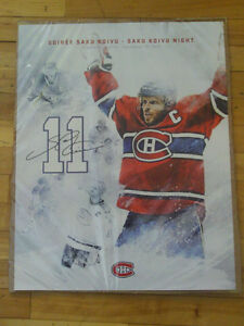 LOT DE CARTES/PHOTOS/POSTER DE  SAKU KOIVU DU CANADIENS MONTREAL