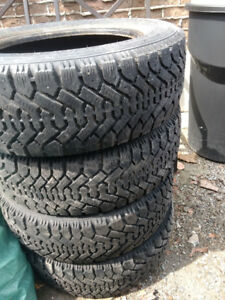 4 Goodyear Nordic Winter tires P195/60R15 Lots of tread left