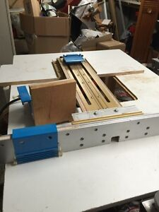 "Incra Jig 17""deluxe positioner with homemade router table"