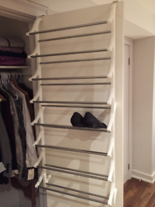 Shoe Rack. Hangs inside of closet.