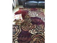 Large rug and matching cushions