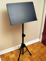 FULLY ADJUSTABLE PROFESSIONAL MUSIC STAND