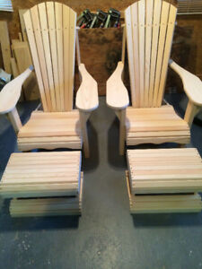 Hand Made Adirondack Chairs / Stools & Tables - LAST ONES!