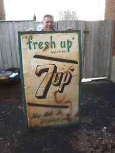 vintage tin 7up sign
