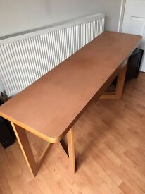 Foldable solid wood table