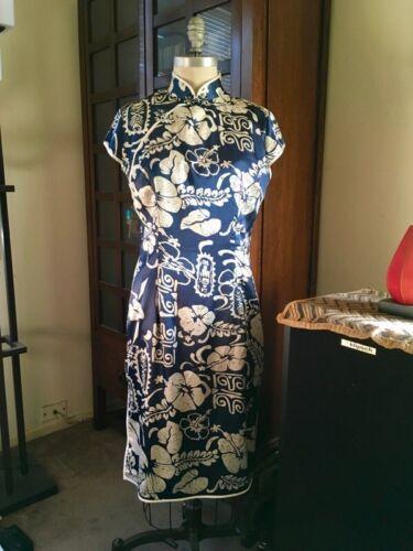 Купить Hawaiian - China Doll Dress Retro Sexy Susie Wong Hawaiian Dress Silk Size 10