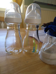 Assorted bottles and pacifiers