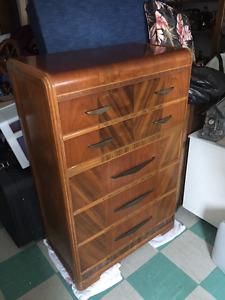 Antique tallboy dresser