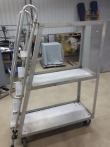 escalier mobile en aluminium