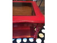 Red gloss coffee table