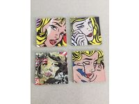 Pop-art coasters (set of 4)