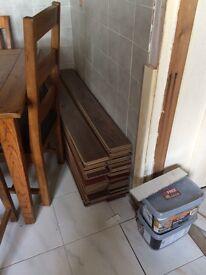 Two lots laminate flooring