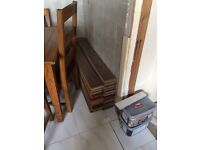 Two lots laminate flooring
