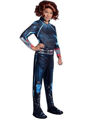 Black Widow Marvel Avengers Kostüm (Black Widow Girls Fancy Dress The Avengers Marvel Superhero Kids Childs Costume)