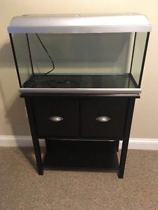 22 gallon 84L tank with stand and accessories