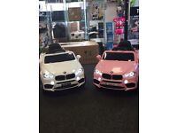 BMW X5 Style In Pink, Large Selection Of Ride-On Cars in Stock