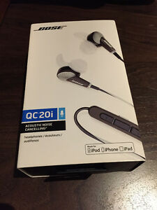Bose Qc20i Noise cancelling headphones Black for apple products