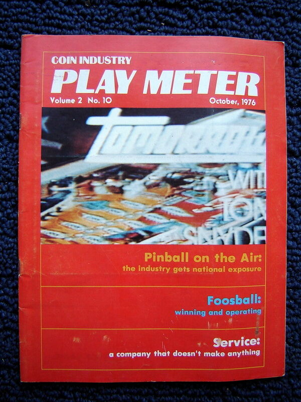 1976 arcade pinball PLAY METER MAGAZINE~Captain Fantastic;Foosball;Jukebox