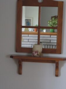 Miirror and shelf