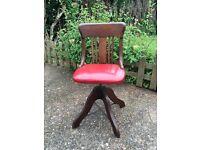 Antique captains swivel chair