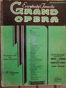 piano books....Opera, and songs of the 1920's and 1930's