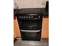 Black Hotpoint 60cm Cooker