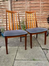 2x GPlan Fresco Dining Chairs
