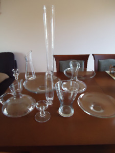 for glass lovers - vases, bowls, candle holders, and other