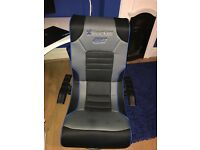 Blue x rocker gaming chair