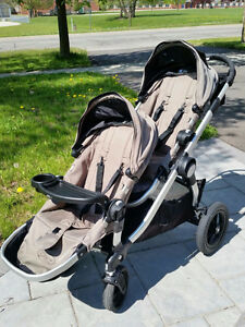 Baby Jogger City Select Double Stroller w adaptor, cover,tray,