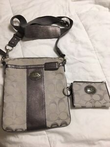 Authentic Coach purse and coin purse