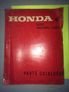 1965 Honda  300 Model CB77 Parts Book Regina Regina Area image 1