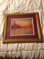 Framed and mounted Monet art print