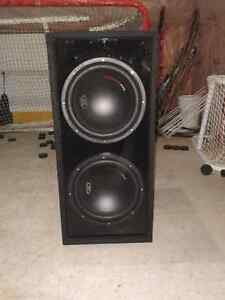 "2 12"" MTX subs in Thunder Pro box"