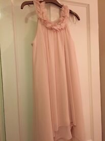 River Island Size 6 Nude Pink Dress