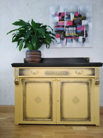 Bespoke mustard upcycled sideboard for sale