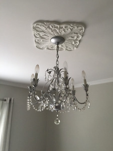 Beautiful glass and metal chandelier