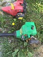 Two free weed trimmers.