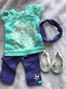 American Girl Blue and Purple Casual Outfit