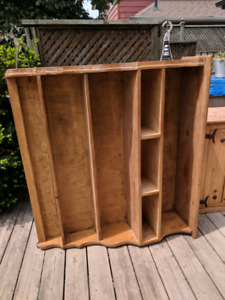 Rustic Unfinished Wood Cabinet