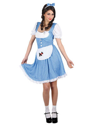 Womens Country Girl Adult Ladies Book Day TV Film Fancy Dress Costume Dorothy (Women's Film Fancy Dress Kostüme)