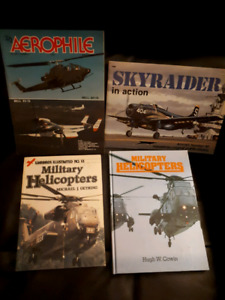 Military helicopers and airplane book lot