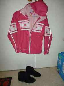 Crush Spring Jacket & Suede Boots Size 5 for 10-12 Year-old-girl