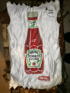 Ketchup packet halloween costume