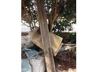 3 Concrete fence posts FREE !!