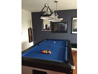 Pool table complete with light fittings and cues