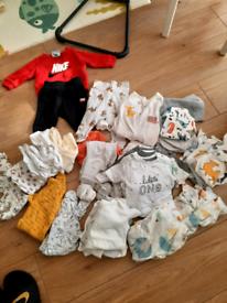 Baby Unisex clothes bundle M&S, Next, Nike etc 100% organic cotton