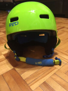 Casque Red Snow/Ski Vert Lime - Medium