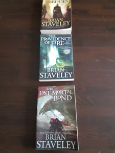 Brian Staveley Large Softcover Trilogy (Gently Used)