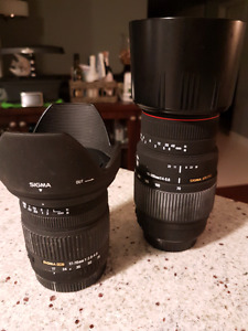Sigma 70mm-300mm  sigma 17mm -70mm zoom lens (Canon mount)